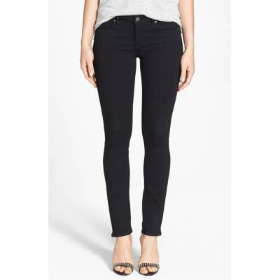 'Transcend - Skyline' Skinny Jeans Black Shadow by Paige Denim