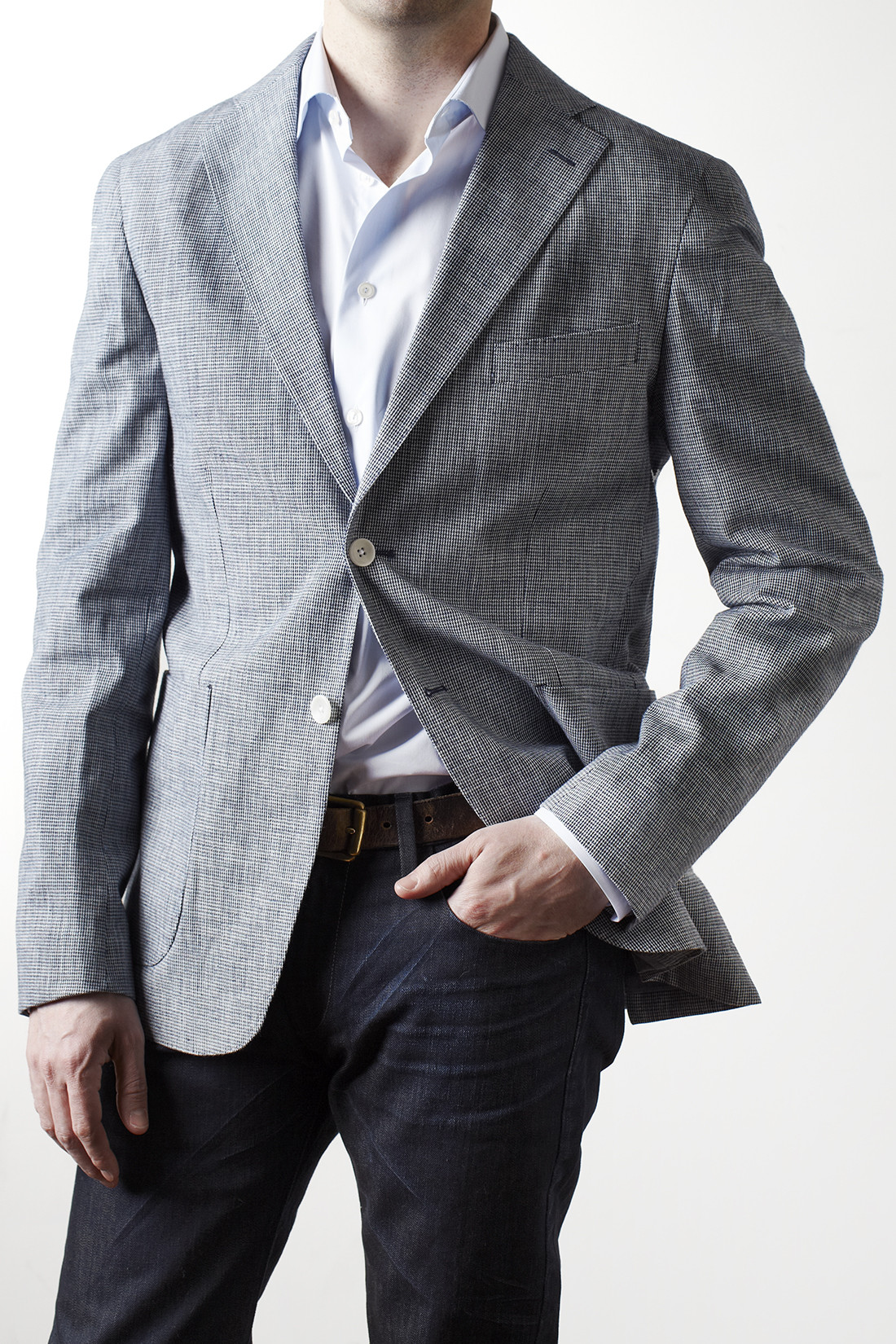 Blazer With Denim Trunk Club
