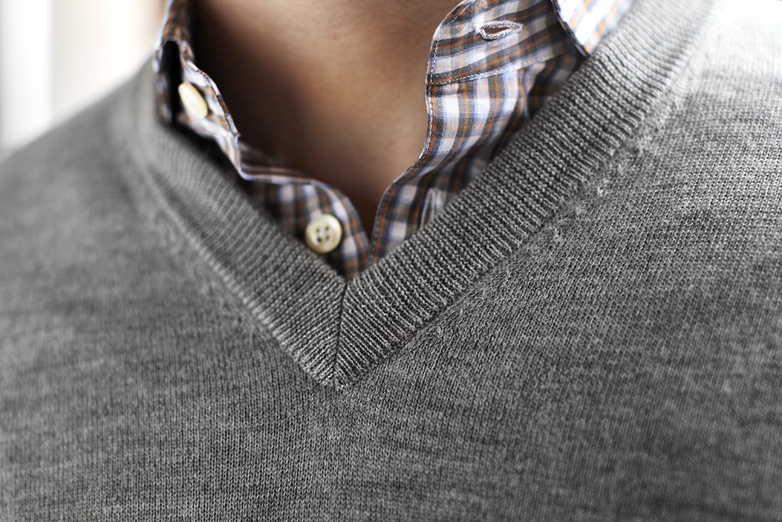 Blazer With v Neck Sweater v Neck Sweater Layered