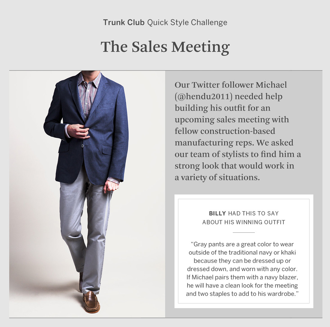 Quick Style Challenge Trunk Club Fashion Chicago What to Wear Twitter