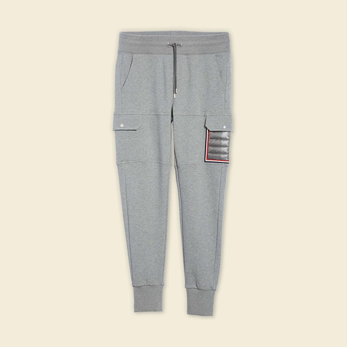 Grey sweatpants.