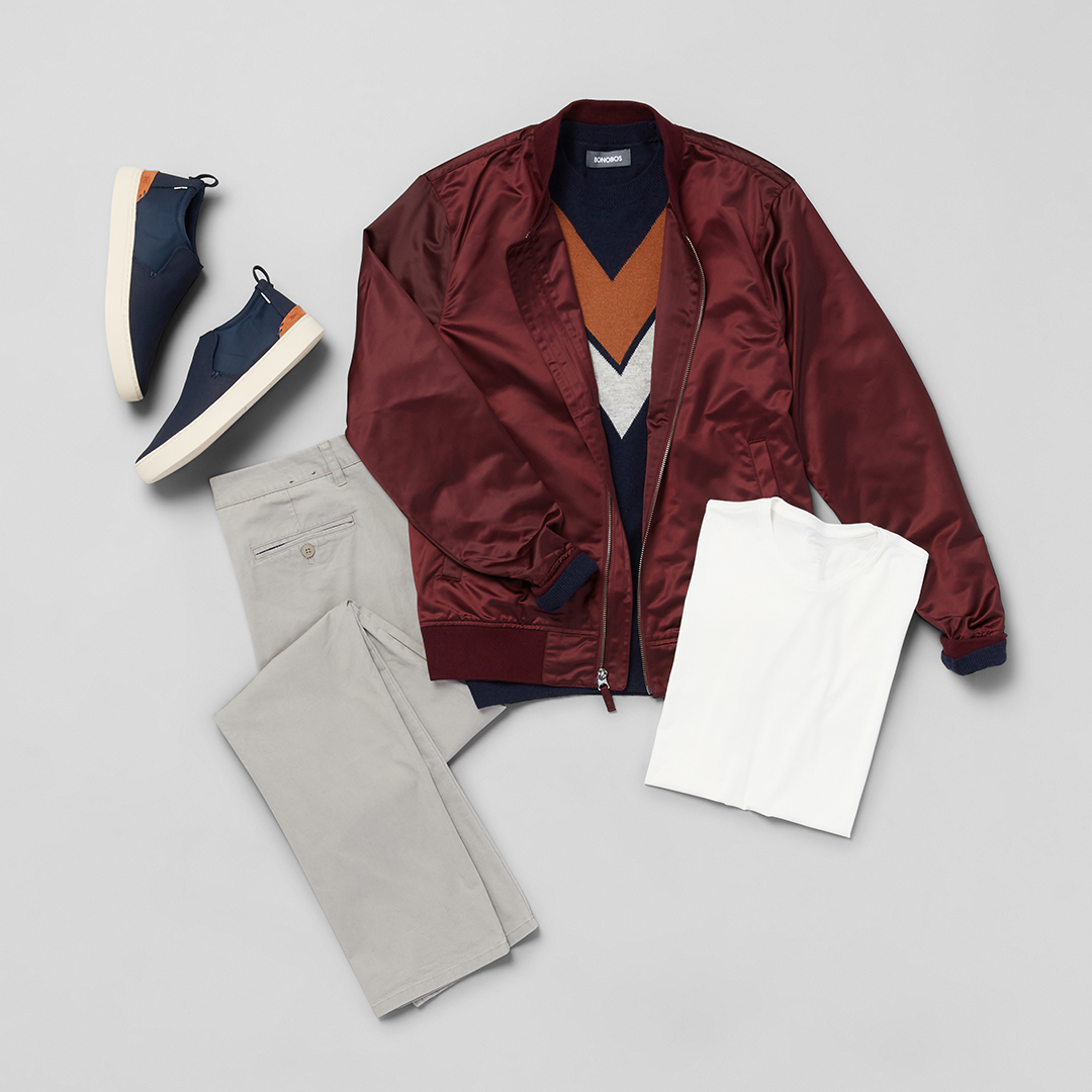 Bonobos jacket and chinos.