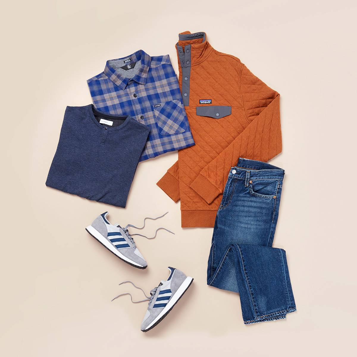 Collection of game day wear for men.