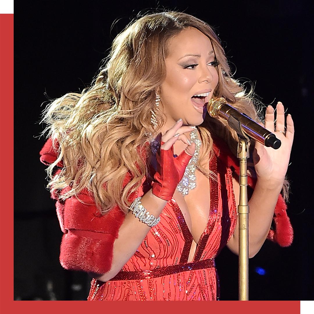 Mariah Carey singing.