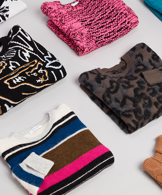 Turned Up Statement Sweaters