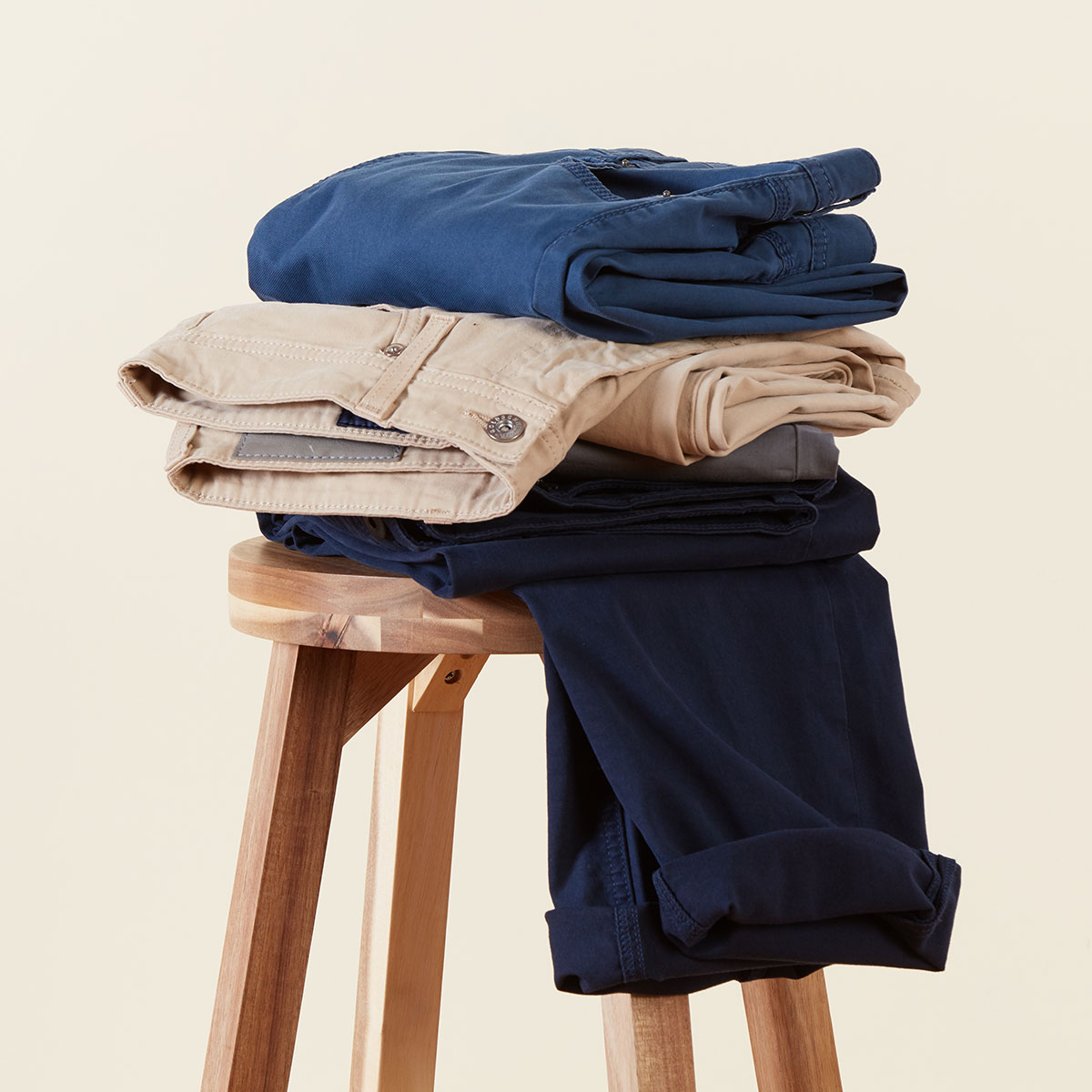 Men's 5-pocket twills