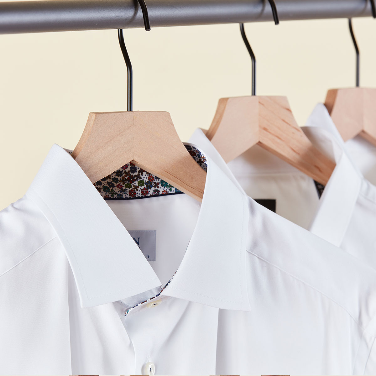 Men's white button down shirts