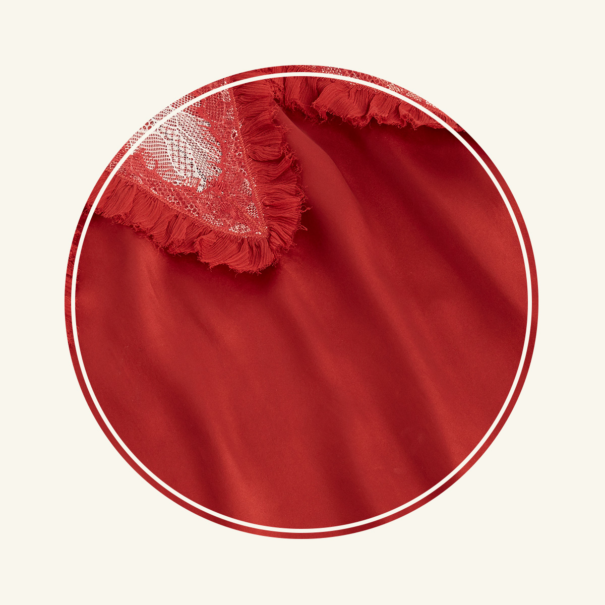 vibrant red silk