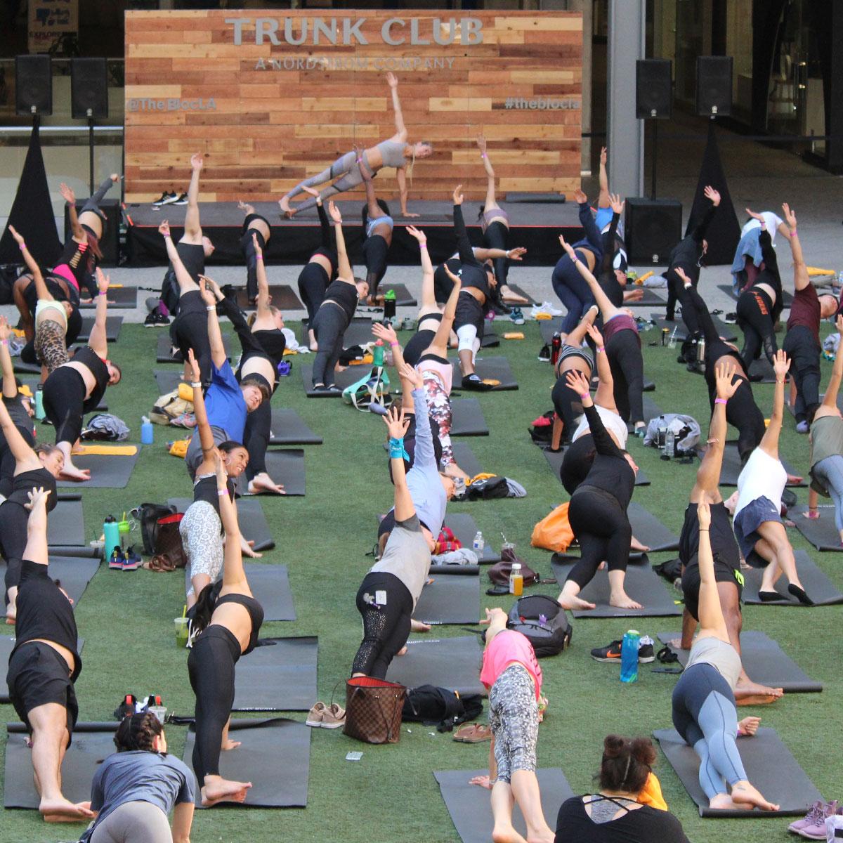 Collective yoga class