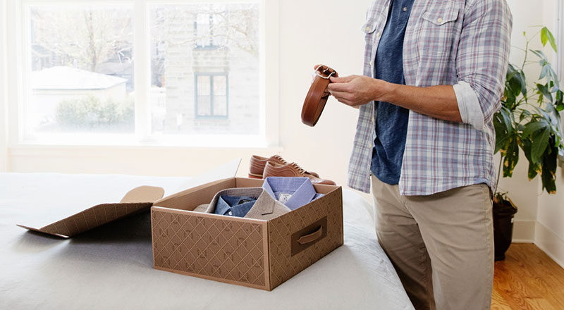 Clothes box for mens