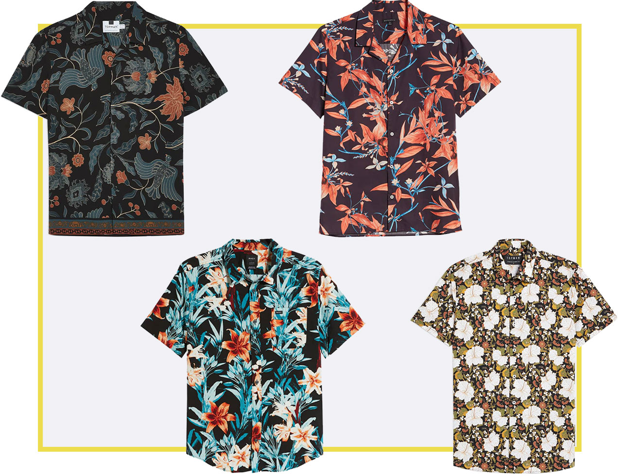tropical patterned shirts