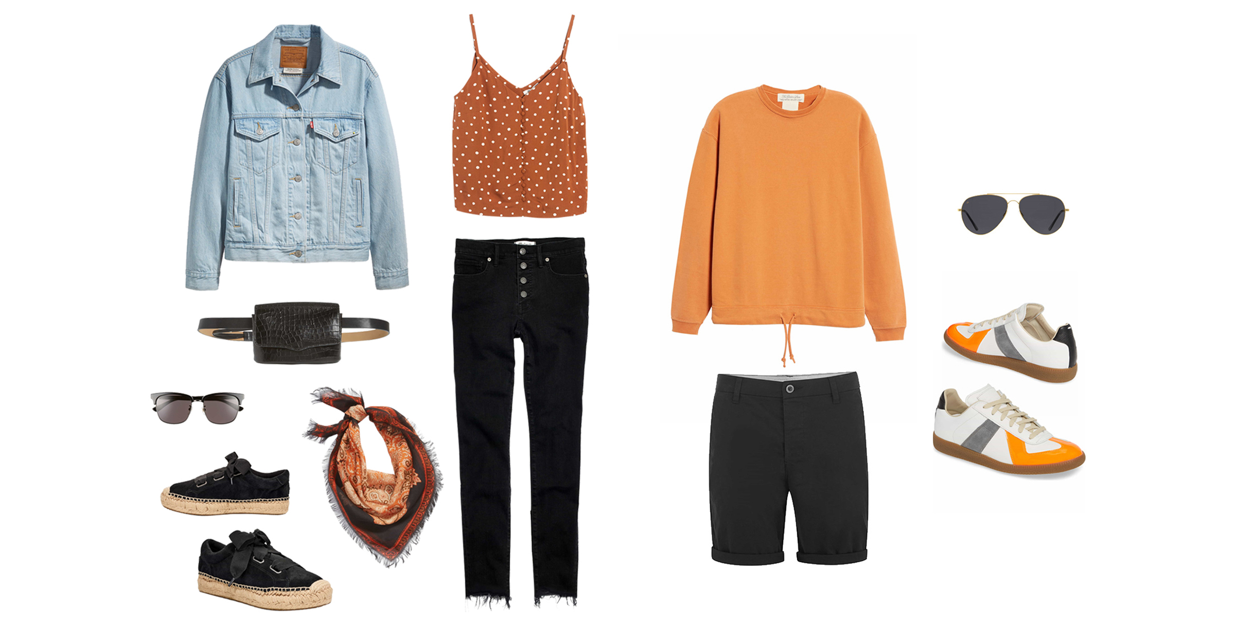 orange and black outfits