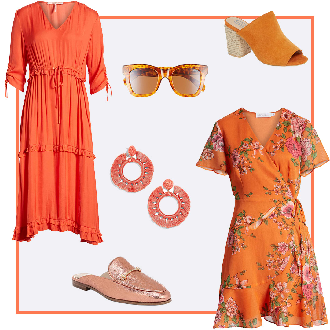 coral and orange look