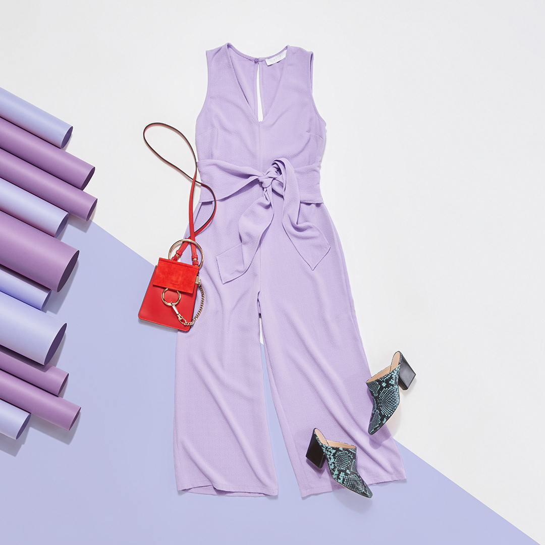 Pastel outfit.