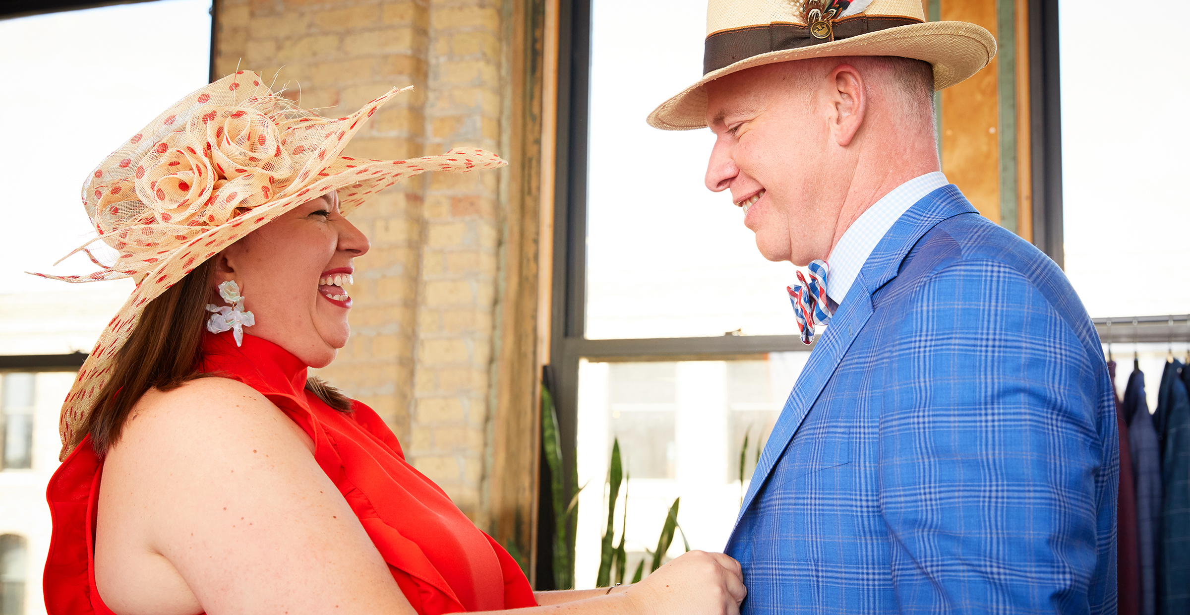 From Kentucky to Chicago, Two Customers Get Styled for the Derby