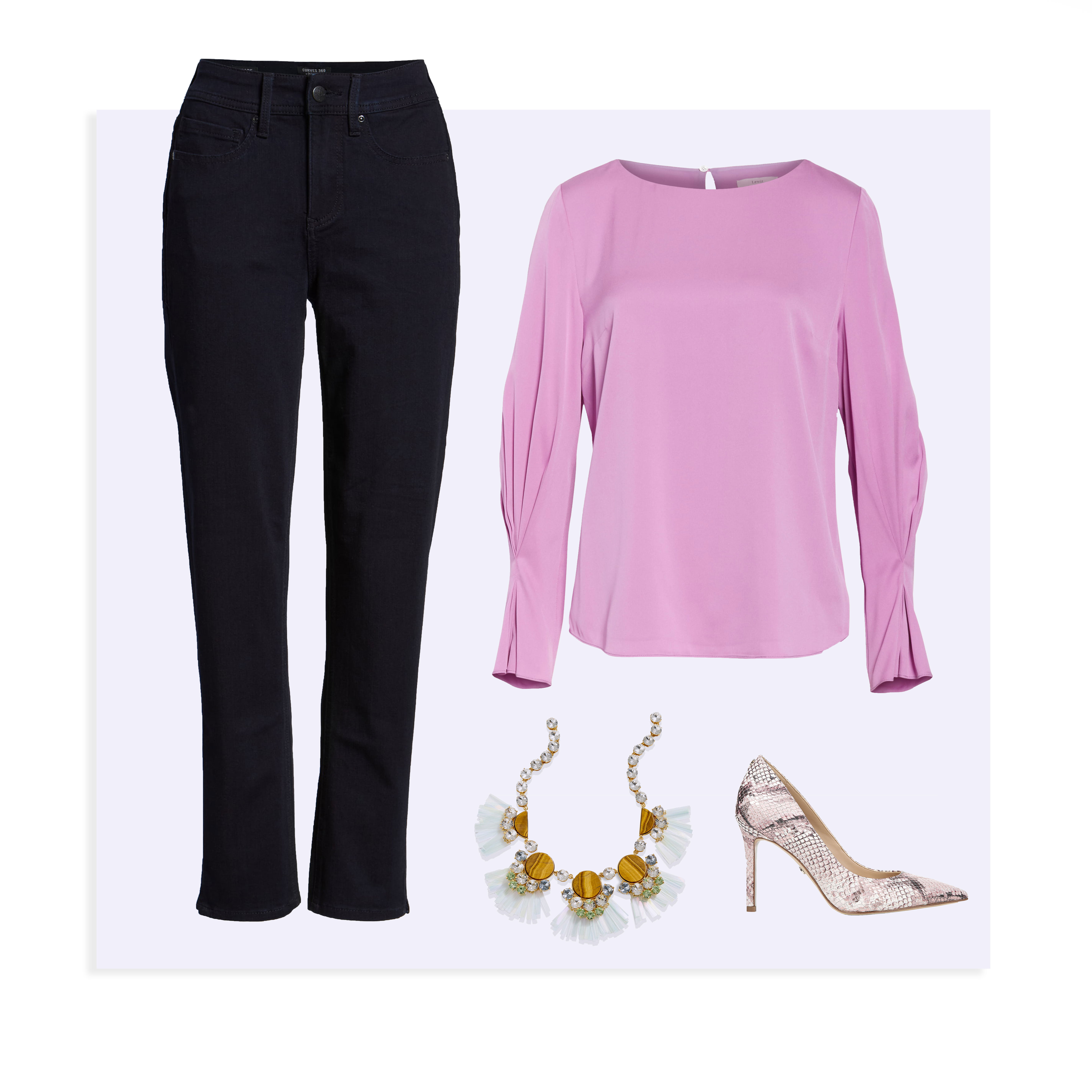 triangle shape casual outfit