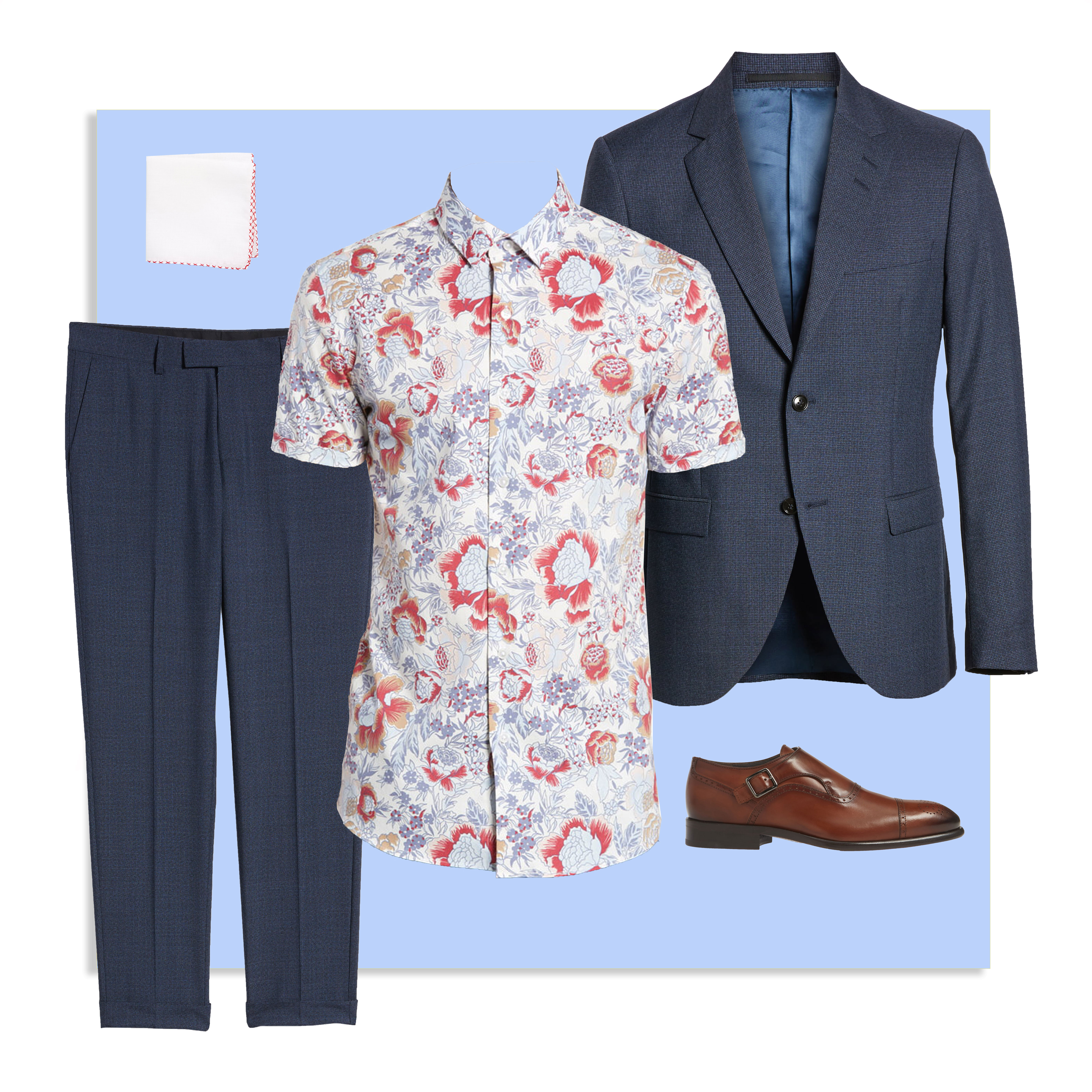 rectangle frame mens suits