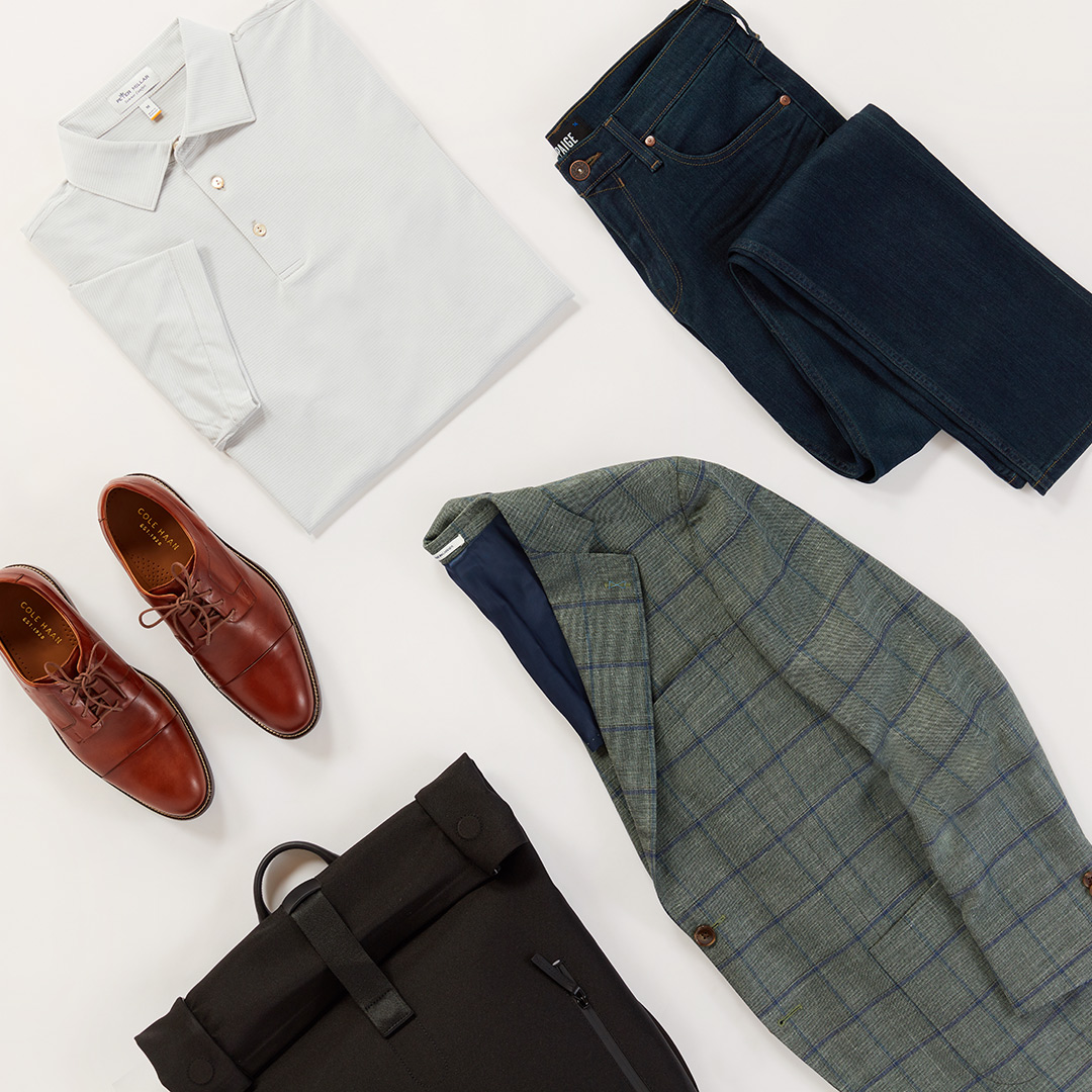 Men's denim and sportcoat outfit