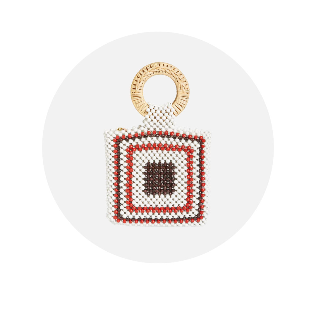 beaded statement bag