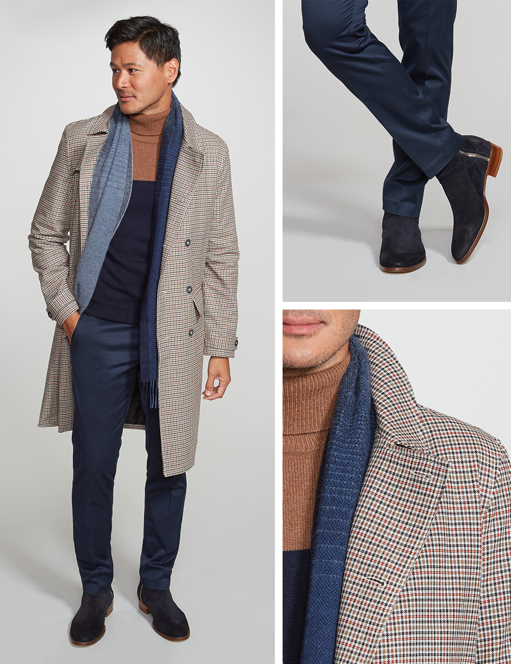 Men's fall outfit with topcoat