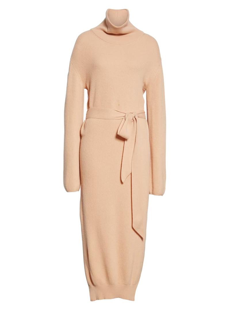 Peach fall maxi dress