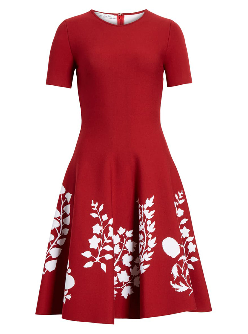 Short red fall dress