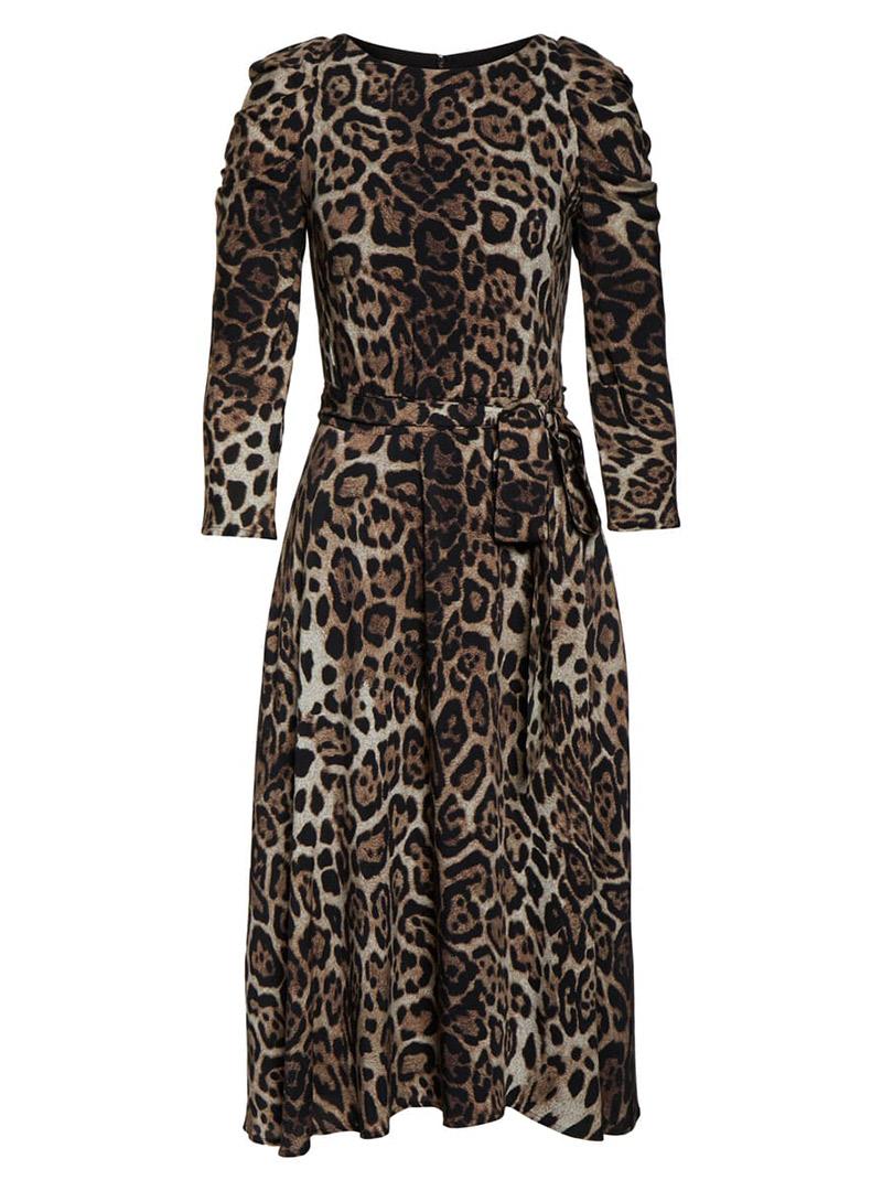 Animal print fall dress