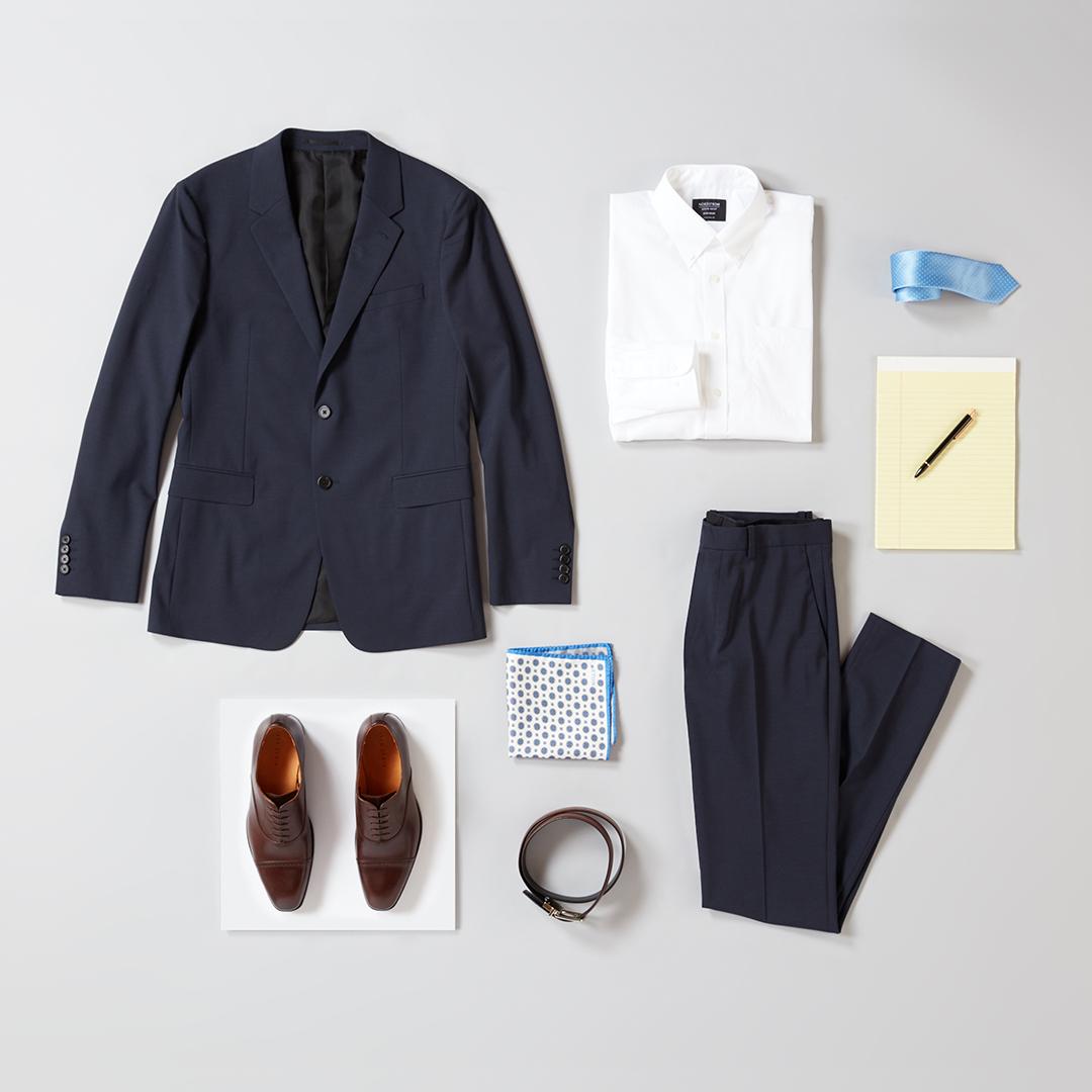 Men's navy suit for work