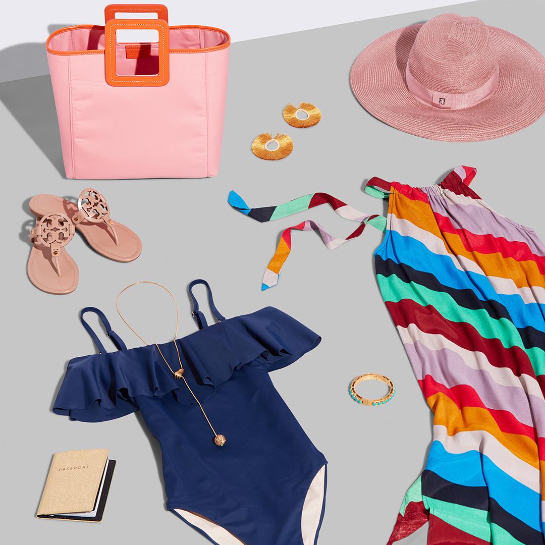 Women's beach outfit