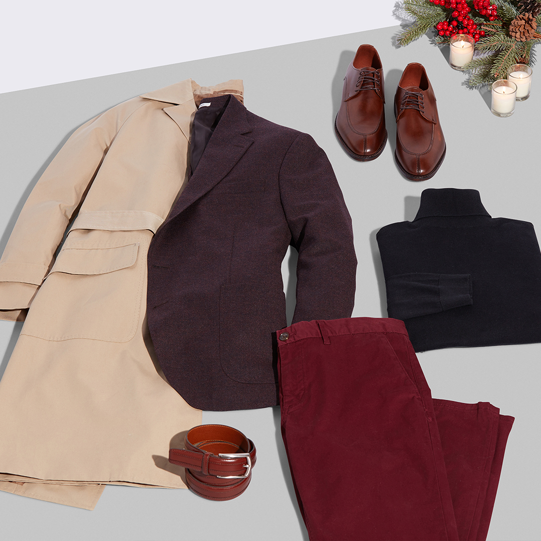 Men's semi-formal holiday outfit