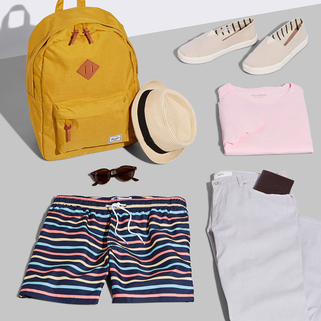 Men's beach vacation outfit