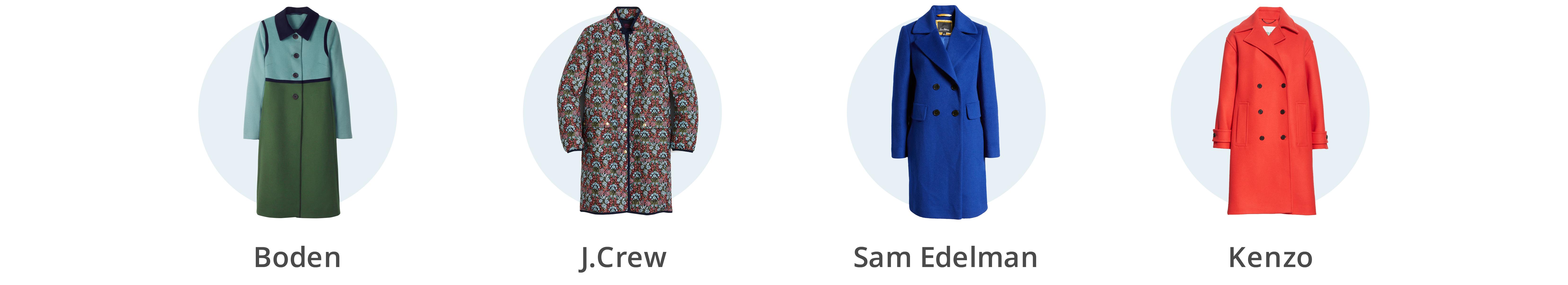 Women's colorful winter coats