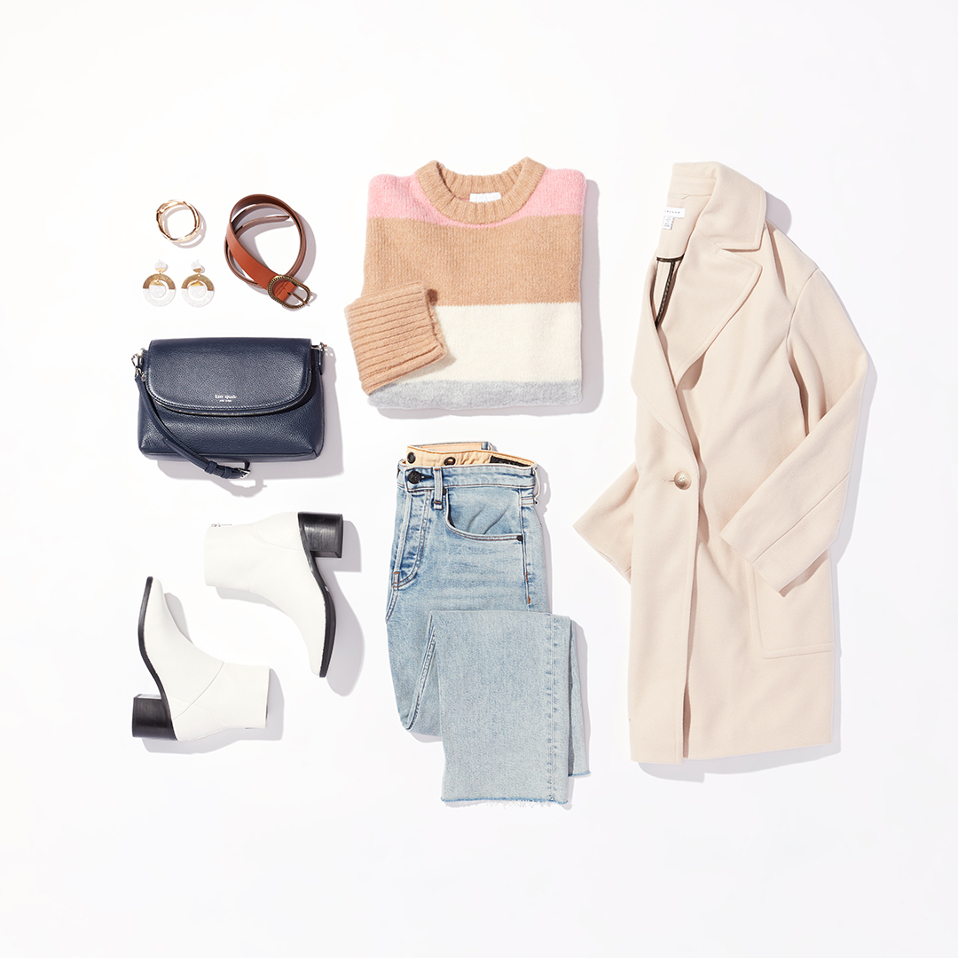 Statement sweater winter outfit