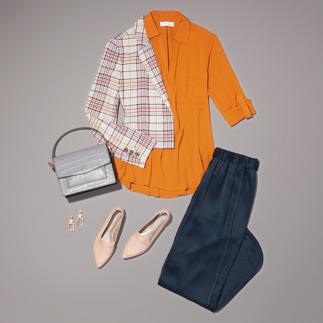 Women's colorful winter work outfit