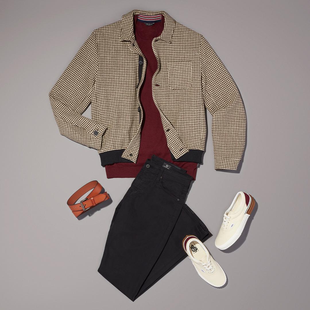 Men's bold basics  workwear outfit