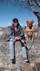 Tomi and Scout, petsitting in Park City, UT.