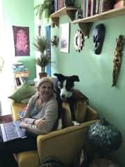 I help you with work! -  with Oscar, Sept 2017 Edinburgh