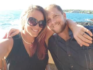 My husband and I in Hawaii