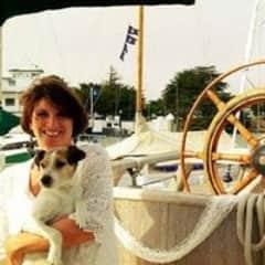 Cindy and canine companion, Elliott