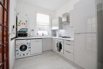 Kitchen with gas hob and gas central heating
