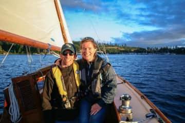 Aaron and Brianna Sailing the San Juan islands