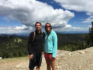 Julie and I hiking in Whitefish