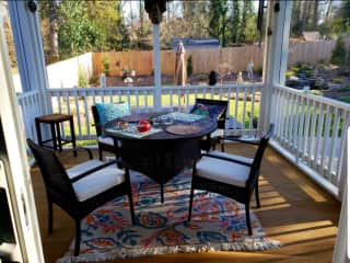Back screened porch
