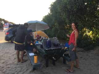 Camping and surf trip with friends at Jalama, California
