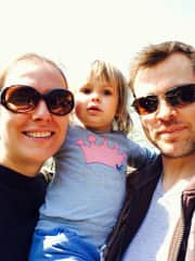 Left to right; me(Ella) our daughter Iva and boyfriend Frank.