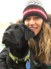 ME (DIANNE) WITH MY 3RD DOG GUIDE FOSTER FREEMAN