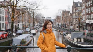 Me in Amsterdam (also was housesitting here)