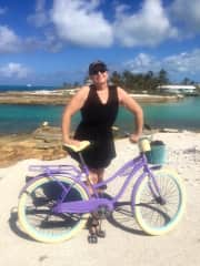 Niamh -  Out for a bike ride in the Bahamas (March 2018)