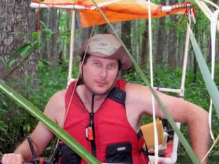 Andrew kayaking in Louisiana