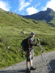 Duncan hiking in the Pyrenees